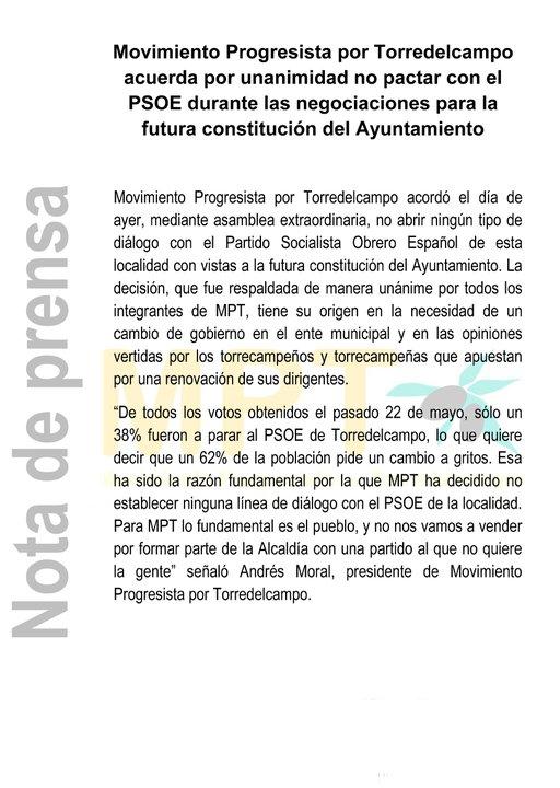 comunicado MPT25-05-2011