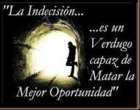 indecisión