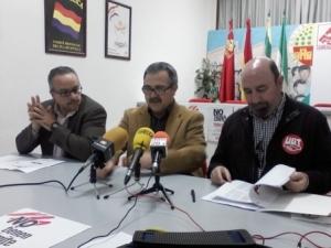 José Moral (CCOO) Luis Segura (IU) Manuel Salazar (UGT)